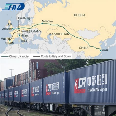 railway transport shipping container  china  poland