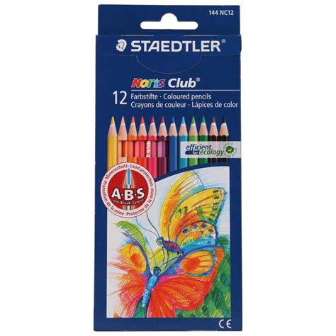 staedtler colored pencils staedtler noris club coloured pencils 12 pack big w
