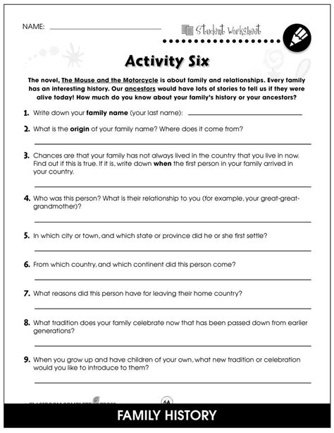 The Mouse and the Motorcycle - BONUS WORKSHEETS - Grades 3