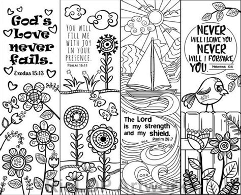 printable religious bookmarks to color printable bible verse coloring bookmarks for kids and