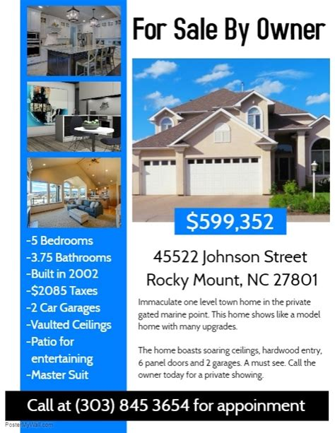 Real Estate Flyer Template Postermywall House For Sale Ad Template