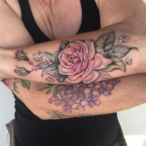 lilac rose tattoo merkaba flower tattoos page 1