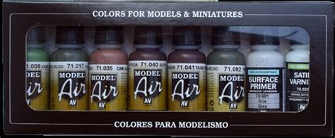 Home Depot Vallejo by Vallejo Paints 17ml Bottle German Camouflage Model Air Paint Set 8 Colors