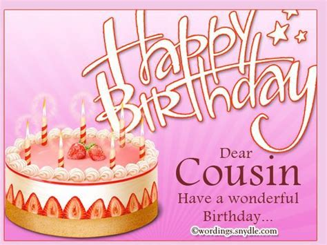 Birthday Quotes For A Cousin Happy Birthday Dear Cousin Pictures Photos And Images