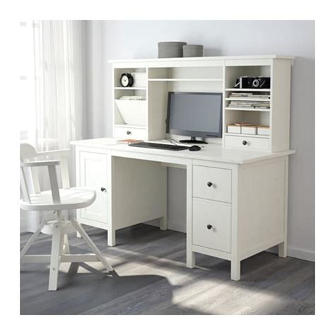 ikea buro wit hemnes desk with add on unit white stain 155x137 cm ikea