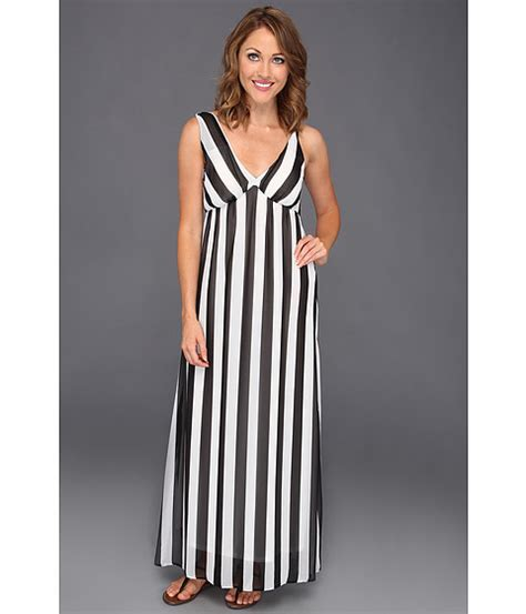 Vertical Maxi Dress kirisi vertical stripe maxi dress black