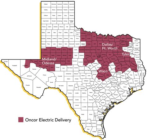 texas electric utility map related keywords suggestions for oncor