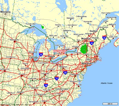 driving map of usa and canada driving map eastern us longitude latitude road map of