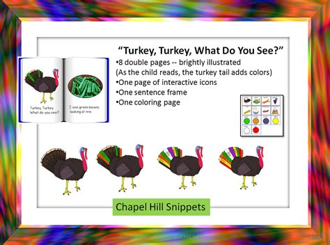 printable turkey turkey what do you see chapel hill snippets turkey turkey what do you see a