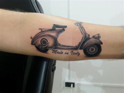 vespa tattoo designs made in italy vespa on arm sleeve