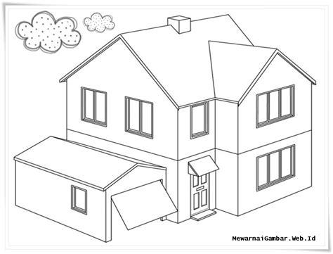 contoh menggambar rumah images
