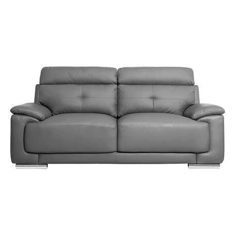 high back leather sofa asti high back inspired grey leather sofa collection