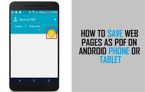 how to save on android how to save web pages as pdf on android phone