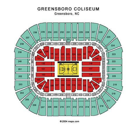greensboro coliseum floor plan greensboro coliseum tickets preferred seats