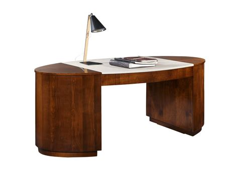 wooden writing desk with drawers hector by selva