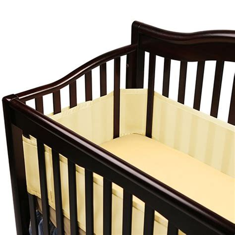 breathable baby crib bumper reduces the risks of