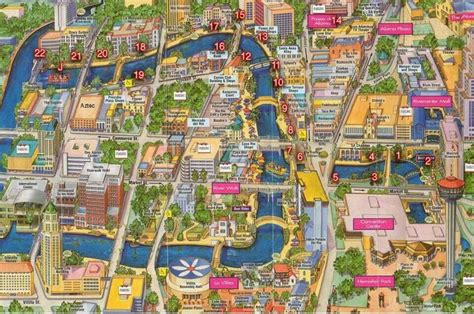 map of downtown san antonio texas map of downtown san antonio san antonio