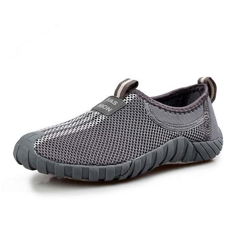new s slip on sneakers mesh breathable casual hiking