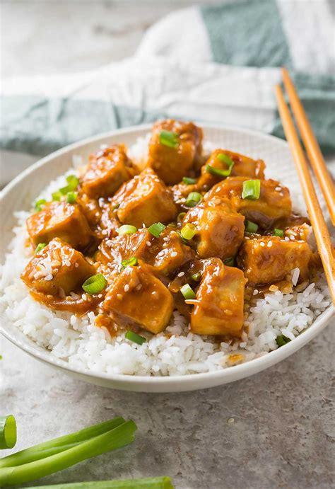 30 min healthy asian chili garlic tofu stir fry one pan