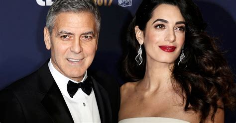 actor george clooney wife amal and george clooney are all smiles as they leave