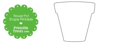 Plant Pot Template Clipart Best Flower Box Template