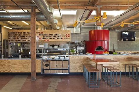 Industrial Kitchen Design Layout by Contemporary Pitfire Pizza Interior Restaurant By Bestor