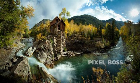 Tropical Wall Murals crystal mill colorado fall colors photography pixel