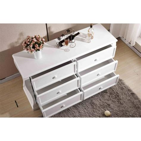 White Chest Of Drawers Adelaide by Carved Chest Of 6 Drawers Dresser In White Buy