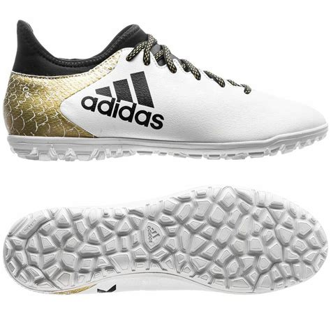adidas x 16 3 trx tf turf 2016 soccer shoes white black gold youth ebay