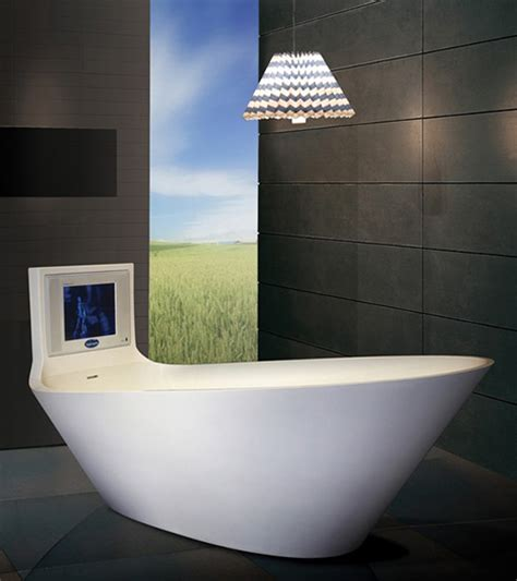 saturn in a bathtub tv tub by karim rashid from saturn
