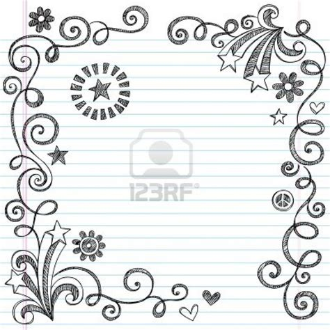 how to draw doodle borders easy to draw border designs found on 123rf things