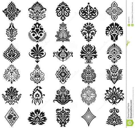 vector pattern set damask floral pattern set stock vector image 40516071