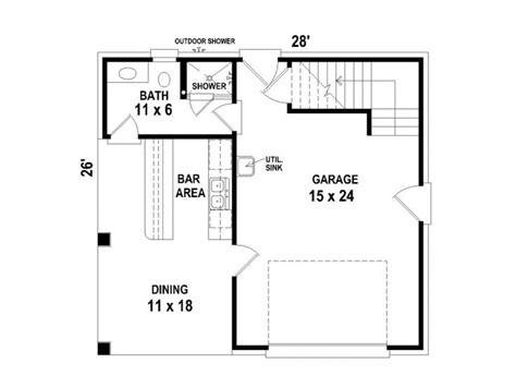 one car garage plans 1 car garage plan with pool bath