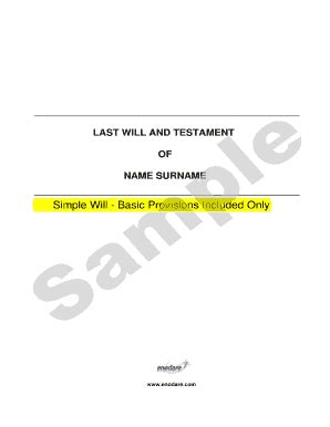 Bill Of Sale Form South Carolina Last Will And Testament Sle Templates Fillable Printable Last Will And Testament Template Alabama