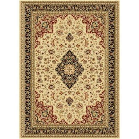 Tayse Rugs Century Ivory 5 Ft 3 In X 7 Ft 3 In Home Depot Area Rugs 5x8
