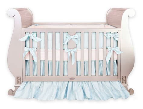 Silk Crib Bedding Silk Baby Blue Crib Bedding Set Crown Interiors