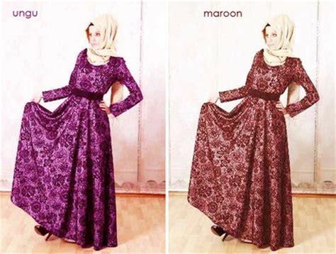 contoh baju ke pesta 10 contoh model desain baju muslim brokat terbaru 2015