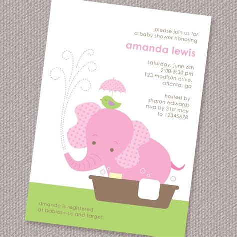 baby elephant baby shower invitation printable by paperspice