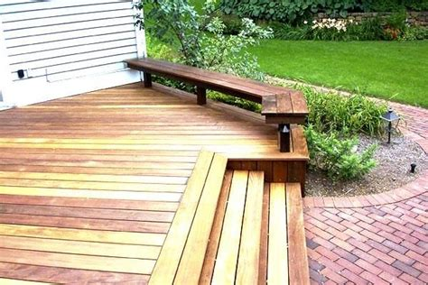 deck benches built in ipe deck and built in bench