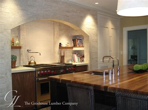 Kitchen Island Block custom walnut wood countertop in boston massachusetts