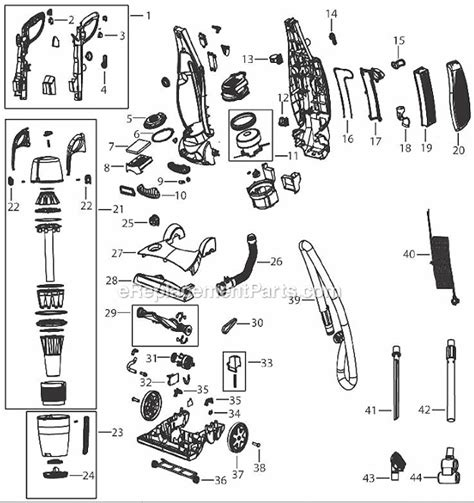 bissell proheat parts diagram bissell 93z6 parts list and diagram ereplacementparts