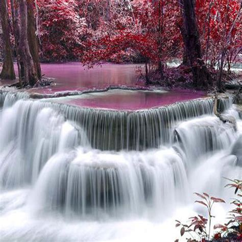 bedroom waterfalls waterfall photo mural printed wall paper rolls textured