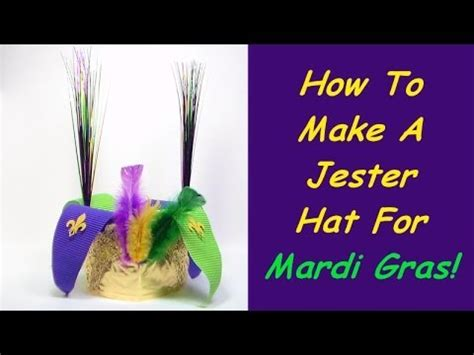How To Make A Jester Hat Out Of Paper - jester hat mardi gras craft