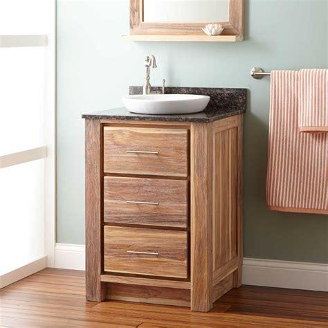 whitewash bathroom vanity 24 quot venica teak vanity for semi recessed sink whitewash