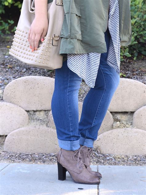 skinny jeans boots on pinterest nautical womens layered up curvy girl chic