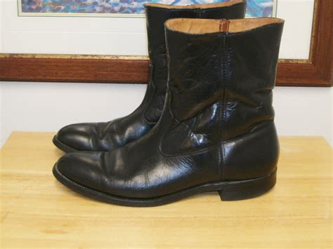 wellington dress boots for vintage justin black leather s by kellyshippyhut