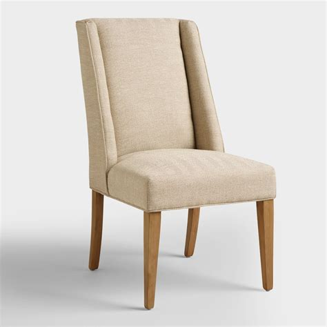 world market dining room chairs khaki herringbone lawford dining chairs world market