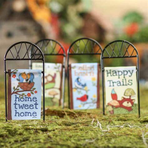 miniature garden flag fairy garden miniatures