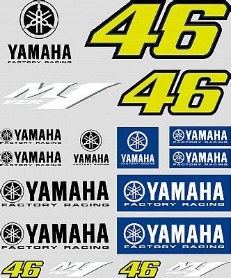 Racing Aufkleber Set by Vr46 Racing Apparel Vr46 Yamaha Aufkleber Set Motoin De