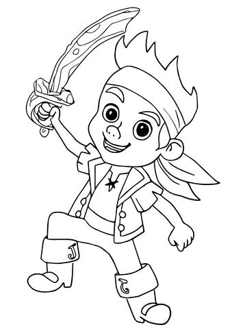Jake Pirate Coloring Page Free Printable Coloring Pages Jake And The Neverland Coloring Pages To Print